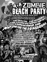The Kezners Zombie Beach Party Flyer